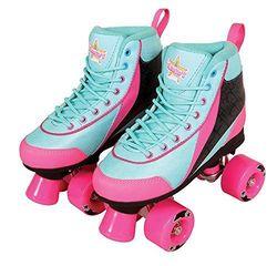 Kandy Skates Summer Days Roller Skates - Teal/Pink - Size: 6