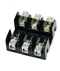 Mersen 60303 600V 30A H&K 3P Fuse Block 5 Pks