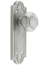 Emtek Belmont Door Set - Dummy Satin Nickel - Old Door Knobs