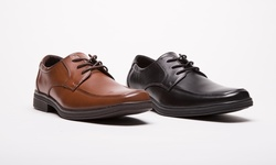 Kenneth Cole Unlisted Lay-over Men's Lace Up Shoe:  Black/8