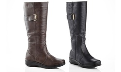 Comfort Riding Boot: Brown/10