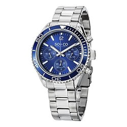 So & Co New York Men's Watch: Gp15222: Silver Band/blue Dial