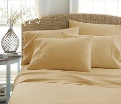 iEnjoy Home 6 Piece Microfiber BedSheet Set - Gold - Size: Twin