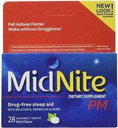 Midnite PM Drug-Free Sleep Aid Chewable Tablets Mint ea 28