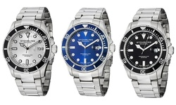 Stuhrling Original Men' Swiss Professional Dive Watch: Blue Dial (gp12986)