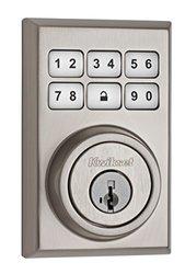 Kwikset 99090-020 SmartCode Electronic Deadbolt featuring Smart Key, Satin Nickel