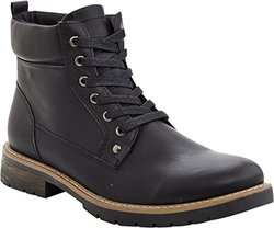 Marco Vitale Men's 42029 Tall Laceup Work Boot, Black, 10.5