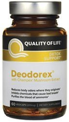 Deodorex w Champex Mushroom Extract 200 mg 60 vCaps Quality of Life Labs