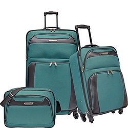 Travelers Choice Richmond 3-piece Spinner Teal Luggage Set