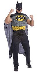 Batman Muscle Chest Top with Cap and Mask, Black, X-Large