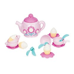 Battat Play Circle Musical Tea Playset Teaches & Fosters Creativity