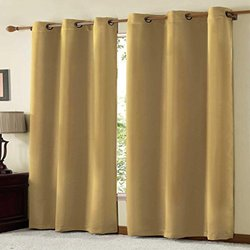 VCNY Radiance Foamback Blackout Grommet Window Panel - Taupe - 38 x 84