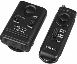 Vello FreeWave Wireless Remote Shutter Release for Canon w/3-Pin Connection with Canon EOS: 10D, 20D, 30D, 40D, 50D, 5D, 5D Mark II, 5D Mark III, 6D, 7D, 7D Mark II, 1D, 1D Mark II, 1D Mark II N, 1D Mark III, 1D Mark IV, 1Ds, 1Ds Mark II, 1Ds Mark III, 1D