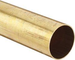 "Brass 330 Round Tubing 4""OD 3.87""ID 0.065""Wall 60""L"