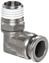 SMC Corporation KQG2 Stainless Steel 316 Push Connect Tube Fitting 90