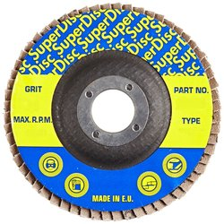 "Sundisc 29 High Density Abrasive Super Flap Disc - 7"" Diameter - 40 Grit"