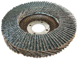 "Sundisc 27 High Density Abrasive Super Flap Disc - 4-1/2"" Dia - 36 Grit"