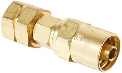 Eaton Hansen Brass Compression Nut Hose Clamp with Brass Male Insert
