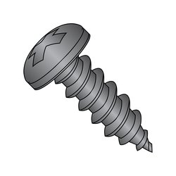 "Small Parts Steel Sheet Metal Screw - Black Oxide Finish - 5/8"" Length"