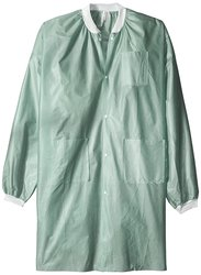 Medicom Lab Coats Knee Length 25 Packs - Army Green - Size: X-Large