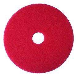 "3M Red Buffer Pad 5100 Floor Buffer Machine Use 5 Pcks - Size: 23"""