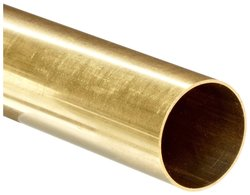 "Small Parts Brass C260 Seamless Round Tubing 15/16"" OD 0.880""ID 36"" Length"