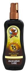 Australian Gold SPF 15 Sunscreen Spray Gel and Bronzer - 2-Pack