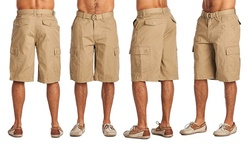 One Tough Men's Cargo Shorts - Light Coffee - Size: 30
