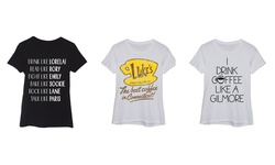 Ladies Short Sleeve Fitted Tee: Gilmore Girls Name List/s