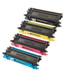 GLB   Brother TN115 High Yield Toner Cartridge Set (Black, Cyan, Yellow, and Magenta) Professionally Remanufactured in USA for Brother MFC9440CN, 9450CN, 9840CDW, & HL4040CN, 4040CDN, 4070CDW & DCP9040CN, 9045CDN Printers