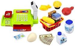Velocity Toys Happy Little Shopper Pretend Play Toy Cash Register