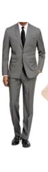 Braveman Men's Slim-Fit 2-Piece Suit - Light Gray - Size: 38R x 32W