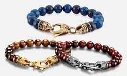 West Coast Men_s Spiritual Wellness & Healing Stone Bracelets - Blue Agate