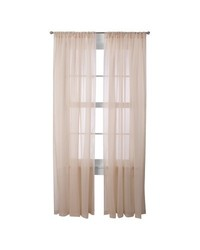 "Room Essentials Voile Sheer 60"" x 63"" Curtain Panel Pair - Tan"