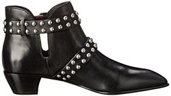 Marc Jacobs Women's Carroll 2 Strap Stud Ankle Boot - Black - Size: 6