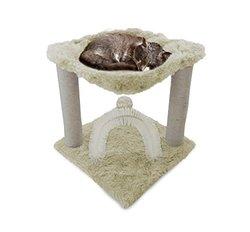 Cat Furniture Trees & Playgrounds: Plush Cat Hammock - Cream