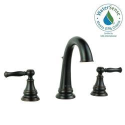 Glacier Bay Fairway 8 In Widespread 2 Handle Bathroom Faucet Bronze