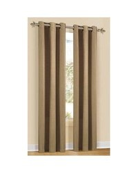 "Duck River Textile Mirage Stripe 80""x84"" Pair Grommet Panel Set: Taupe"