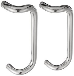 Rockwood Stainless Steel 90-Degree Offset Door Pull Set - Polished Finish