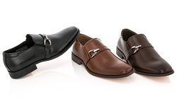 Franco Vanucci Men's Dress Shoes Slip-on: Black/7.5