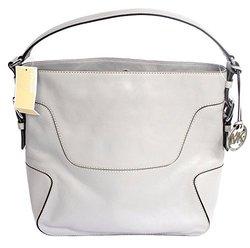 Michael Kors Large Leather Brookville Shoulder / Hobo Bag - Ash Grey