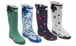 Women's Matte 3d Rain Boots: Multi(1519)/8