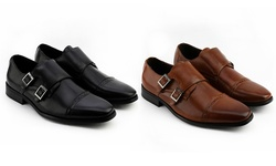 Xray Double Monk Strap Shoes: Black/12