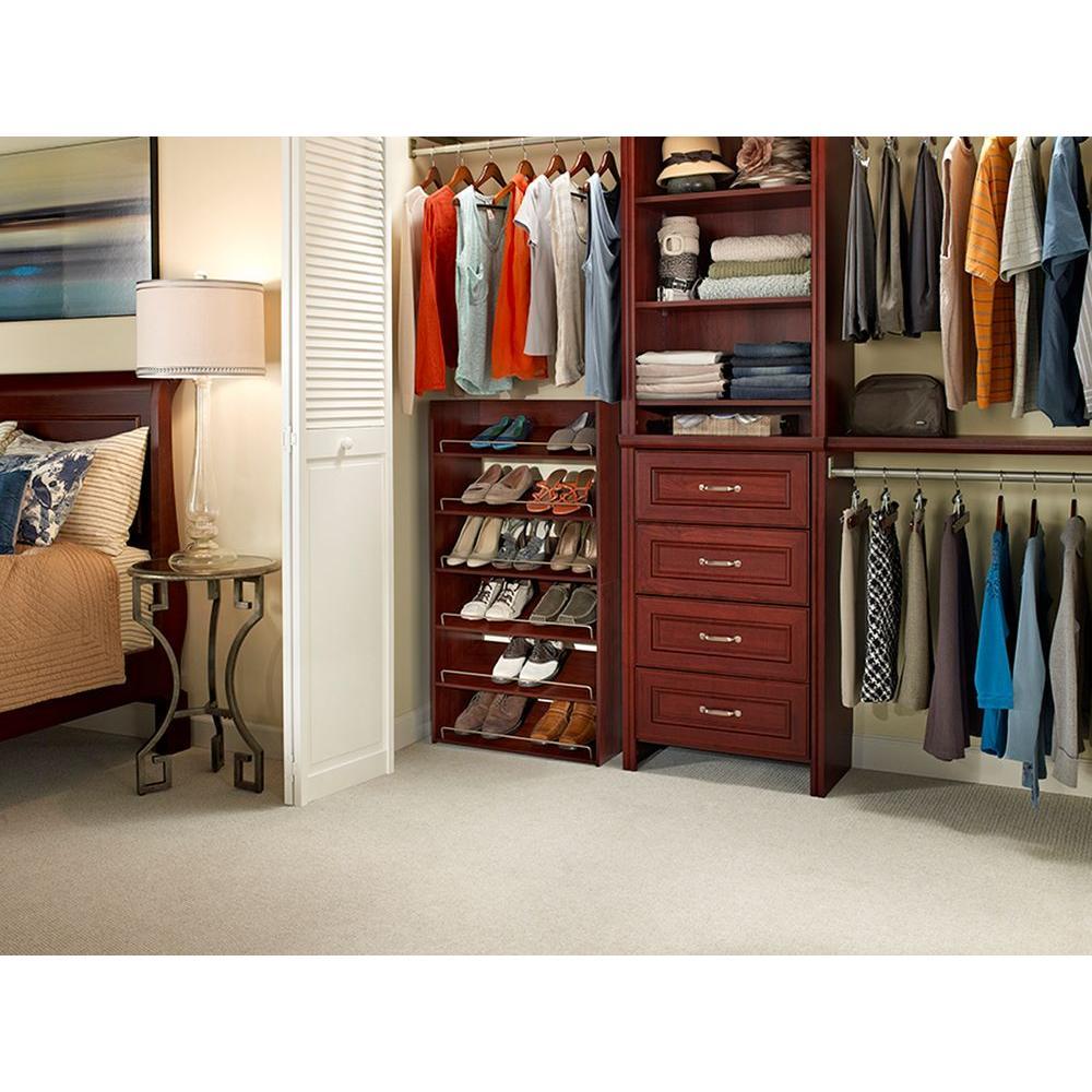 ClosetMaid Impressions 3 Shelf Shoe Organizer   Dark Cherry (30900) ...