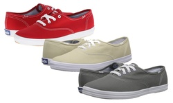 Keds Champion Cotton Canvas Sneakers: All White/11