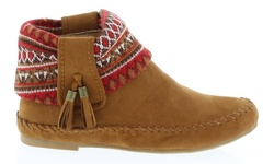 Women's Ankle High Snickers Moccasins - Tan - Size: 10