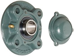 NTN UCFC Light Duty Piloted Flange Ball Bearing Unit 4 Bolt Holes Setscrew