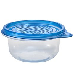 Nicole Home Collection Round Tab Lid Storage Container - 8Oz - Blue 8 CT