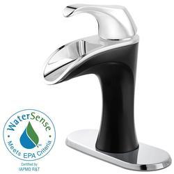 Pfister Brea 4 in. Centerset 1-Handle Bathroom Faucet - Chrome/Matte Black