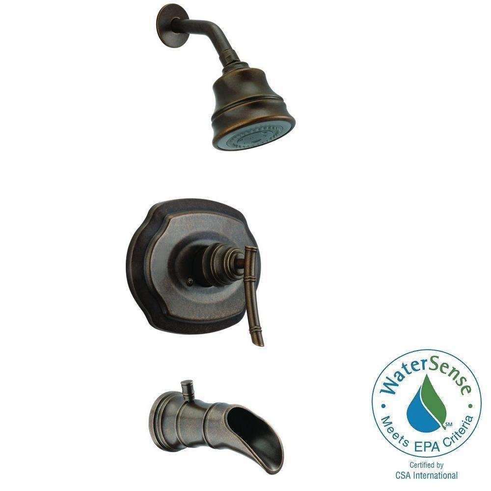 Pegasus Bamboo Single-Handle 3-Spray Tub & Shower Faucet - Heritage ...